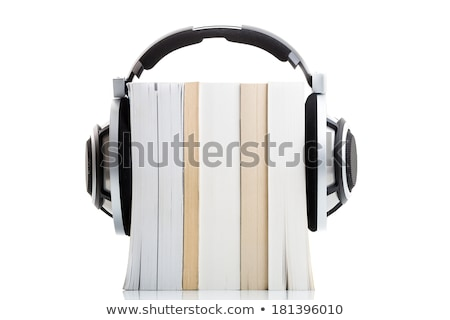 livros · fones · de · ouvido · lata · ilustrar · isolado - foto stock © lightpoet