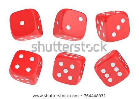 Dés nombre rouge jouet Photo stock © PokerMan