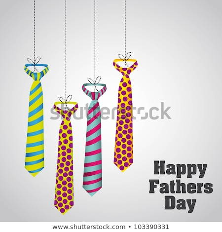 striped tie on a background of the shirt template greeting card for fathers day stock photo © orensila