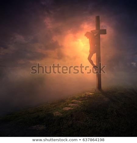 Cristo atravessar ilustração braço jesus hemorragia Foto stock © enterlinedesign