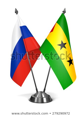 Russia, Sao Tome and Principe - Miniature Flags. Stock photo © tashatuvango