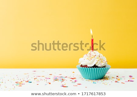Birthday Cupcake Stock photo © JamiRae
