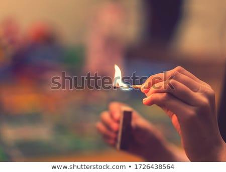 матча · огня · древесины · дым · Молния · курение - Сток-фото © kovacevic