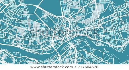 Utcatérkép Newcastle piros tő város utca Stock fotó © chris2766