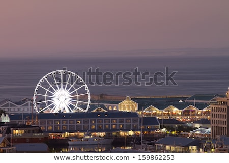 Кейптаун колесо ночь белый современных туристических Сток-фото © fouroaks