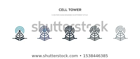 torre · tecnologia · ícone · vetor · imagem · lata - foto stock © rizwanali3d