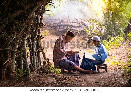 Muzułmanin · dzieci · meczet · indonezyjski · gry · duży - zdjęcia stock © tujuh17belas