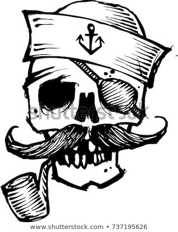 skull pirate and Hand drawn icon Stock photo © netkov1