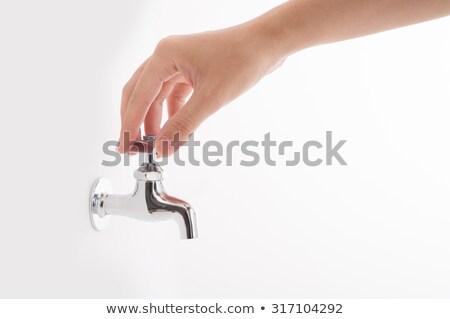 Pare seca abrir mão assinar pintado Foto stock © tashatuvango