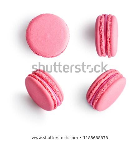 pink macaroon on white background Stock photo © ozaiachin