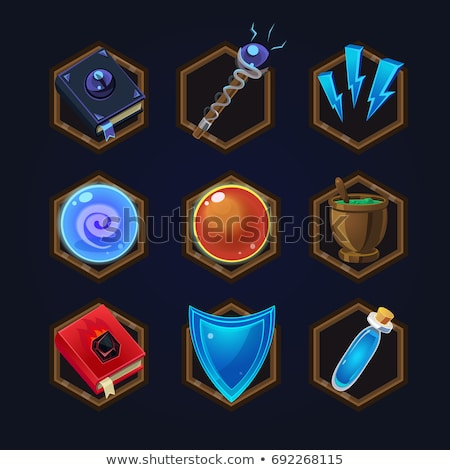 Vector set of elements for RPG games    Stock photo © Elisanth