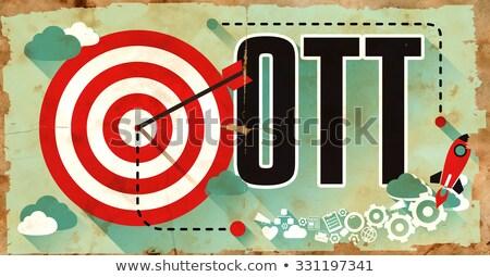 OTT Word on Grunge Poster. Stock photo © tashatuvango