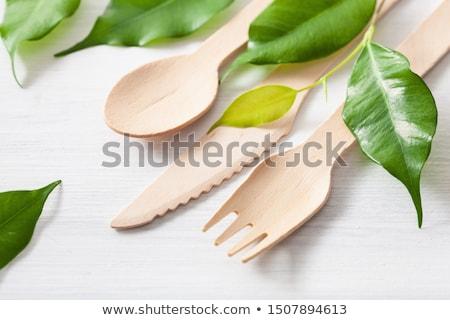 приборы продовольствие ножом белый Кука Сток-фото © ozaiachin