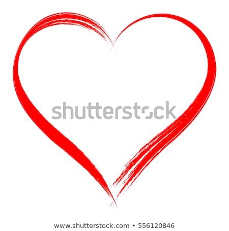 Rood hart frame collage bloemen cirkels Stockfoto © x7vector