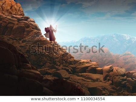 Foto stock: Dez · deserto · oração · religião · camelo · religioso