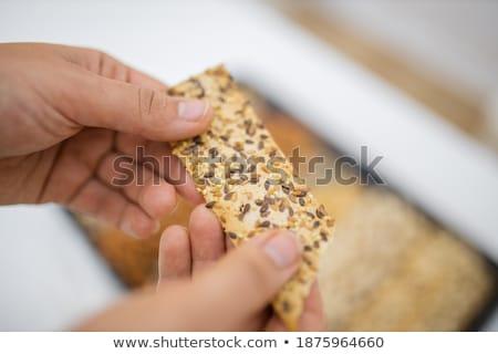 Variété bois pain déjeuner nutrition Photo stock © Digifoodstock