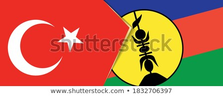 Turquia novo bandeiras quebra-cabeça isolado branco Foto stock © Istanbul2009