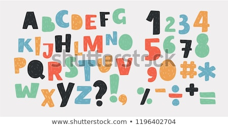 ABC alphabet funky letters children fun colorful set cartoon