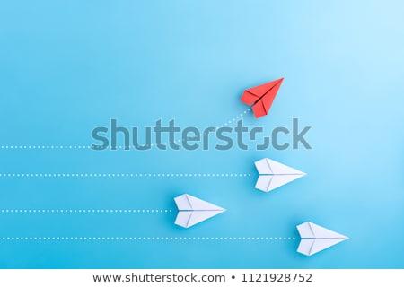 kierunku · indywidualność · niezależny · myślenia · grupy · arrow - zdjęcia stock © lightsource