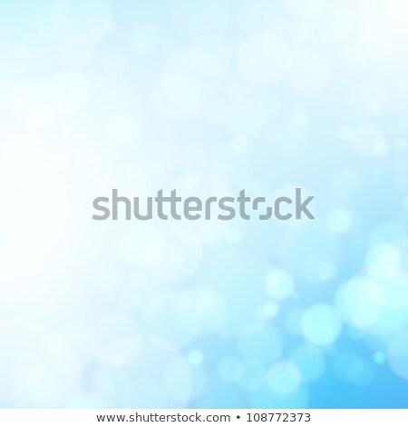 Soyut valentine mavi bokeh kalpler arka plan Stok fotoğraf © alexaldo