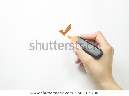 mão · escolher · um · opções · tecnologia · ciência - foto stock © scornejor