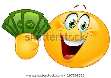 hombre · signo · de · dólar · cara · sonriente · empresario · negocios · feliz - foto stock © ra2studio