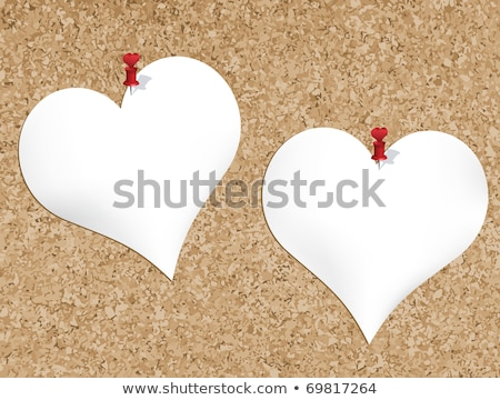 Cork bulletin board with heart shaped notepads Stock photo © illustrart