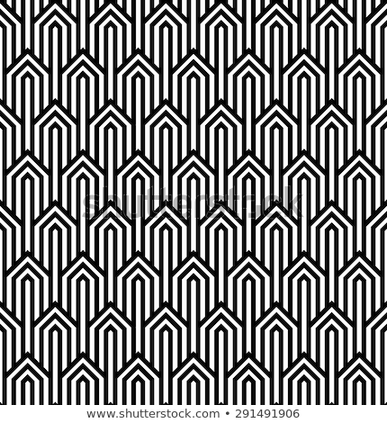 ストックフォト: オプティカル · 芸術 · 抽象的な · 縞模様の · シームレス · パターン