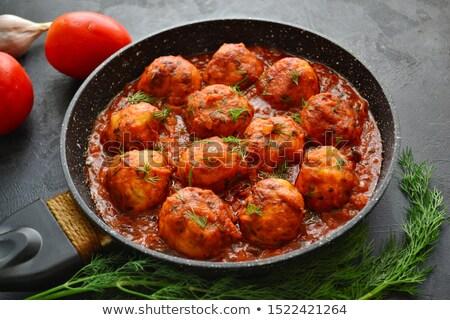 kotlett · disznóhús · krumpli · étel · hús · ebéd - stock fotó © digifoodstock