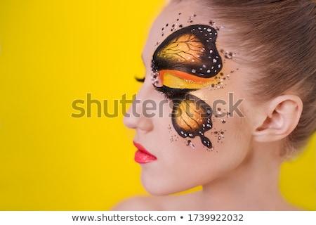 Fantasy ekspresyjny portret piękna blond Zdjęcia stock © konradbak