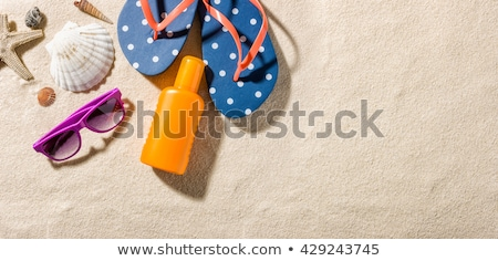 some beach accessories with copy space stock photo © zerbor
