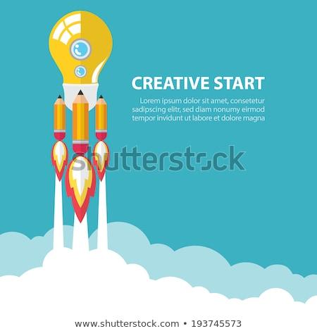 Photo stock: Affaires · Creative · fusée · affaires · deux