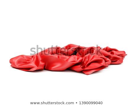 Foto d'archivio: Rosso · panno · bianco · moda · abstract · colore
