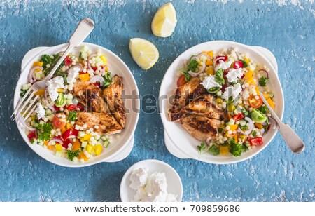 鶏 クスクス ブルーチーズ 鶏の胸肉 務め 食品 ストックフォト © Digifoodstock