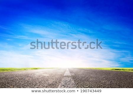 long empty asphalt road towards light motion speed stock photo © photocreo