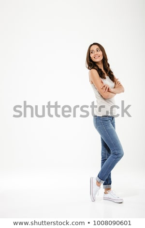 Young girl stands sideways Stock photo © bezikus