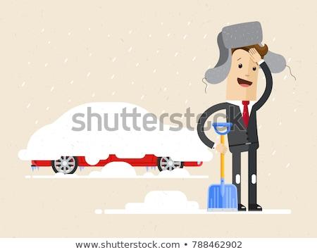 Snowdrift stuck car Stock photo © ia_64