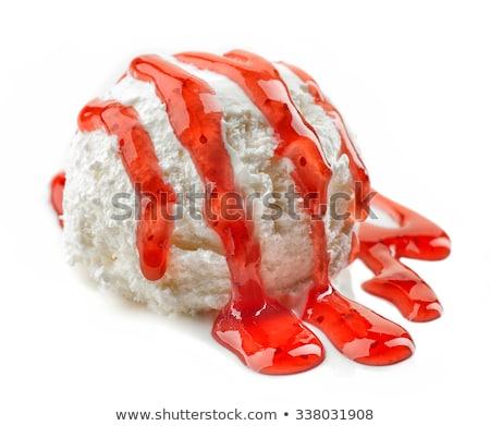 Ice cream with strawberry puree Stock photo © Digifoodstock