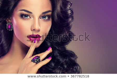 Beautiful girl with make-up and jewelry  Stock photo © svetography