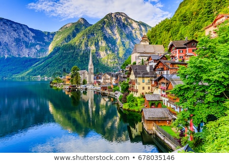 Mountain landscape in the Austrian Alps Stock photo © kb-photodesign