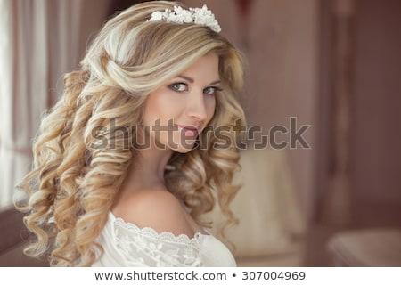 güzel · bir · kadın · açık · havada · dantel · elbise · güzel · kadın - stok fotoğraf © victoria_andreas