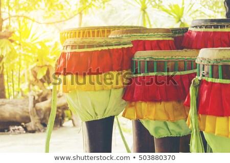 Hosszú dob szimbólum zene tánc boldog Stock fotó © Bigbubblebee99