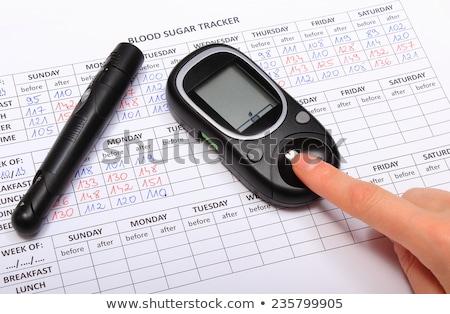 糖尿病 グルコース レベル テスト 手 ストックフォト © simpson33