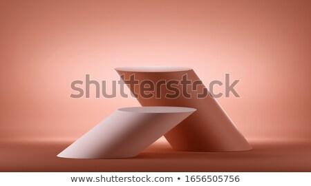 Red podium isometry Stock photo © Oakozhan