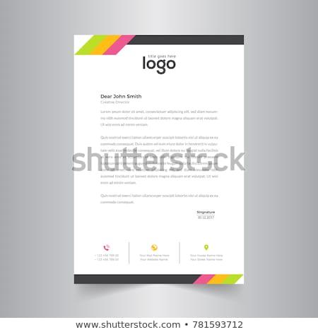 Kreative farbenreich Briefkopf Vorlage Vektor Design Stock foto © SArts