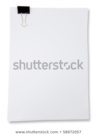 binder clip and stack of paper stock photo © cherezoff