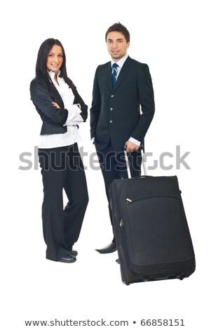 Jeunes femme d'affaires blanche studio affaires femme Photo stock © ambro