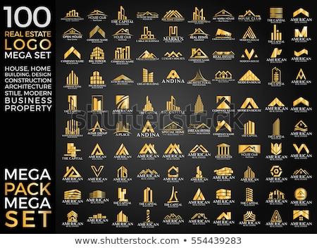 Mega Set and Big Group, Real Estate, Building and Construction Logo Vector Design Stock photo © viewpixel