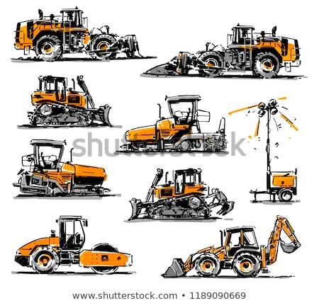 Escavatore sketch icona vettore isolato Foto d'archivio © RAStudio