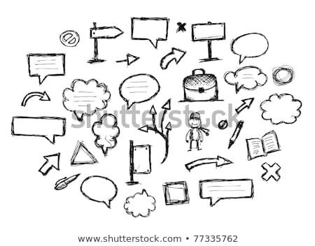 Foto stock: Vacío · discurso · cuadrados · boceto · icono · vector